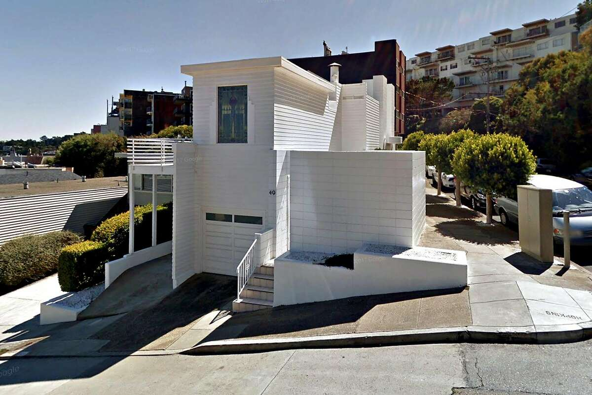 FILE-- Google street view of the Largent House designed by Richard Neutra at 49 Hopkins Avenue from 2014.A Twin Peaks property owner has appealed a San Francisco Planning Commission ruling that he must build an exact replica of the 1935 home designed by famed modernist Richard Neutra that previously occupied the site.