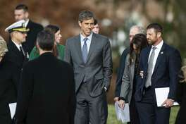 A reader wants to set the record straight on Rep. Beto O'Rourke, seen after the funeral service for former President George H.W. Bush in Washington.
