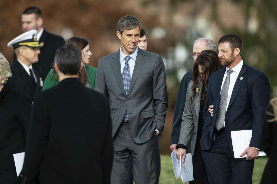 A reader wants to set the record straight on Rep. Beto O'Rourke, seen after the funeral service for former President George H.W. Bush in Washington. Photo: Al Drago /Bloomberg / © 2018 Bloomberg Finance LP