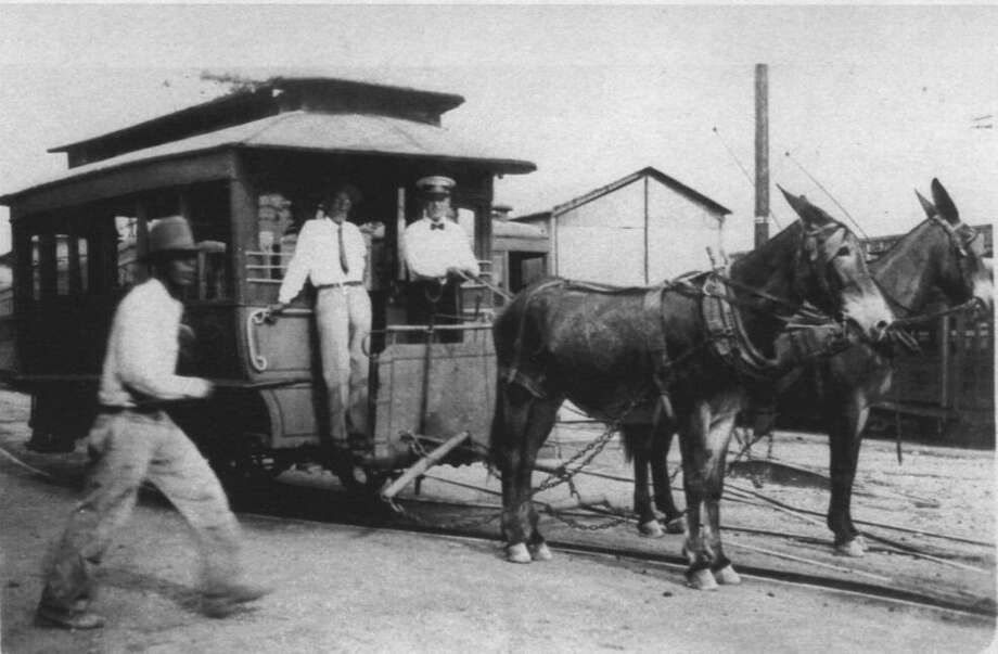 San Antonio streetcars were drawn by mules before they began using electrical power in 1890. Of course they weren't profitable — why they became public utilities. Photo: Witte Museum /Texas Transportation Museum