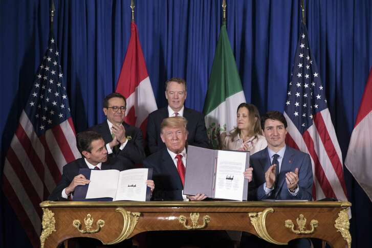 The United States-Mexico-Canada Agreement is signed Nov. 30 on the sidelines of the G-20 summit in Buenos Aires, Argentina. Congressional approval in the U.S. is not assured.