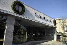 Tesla has a showroom at 340 Greenwich Ave. in downtown Greenwich.