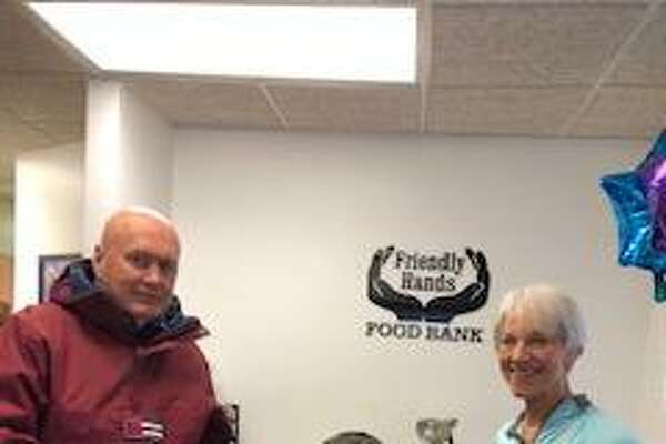 Torrington Civitan Club recently presented a $350 donation to Friendly Hands Food Bank in Torrington. Pictured from left are, Michael Carr, Civitan Treasurer, Maureen Hubert, Executive Director and Theresa Carr, Civitan Secretary.