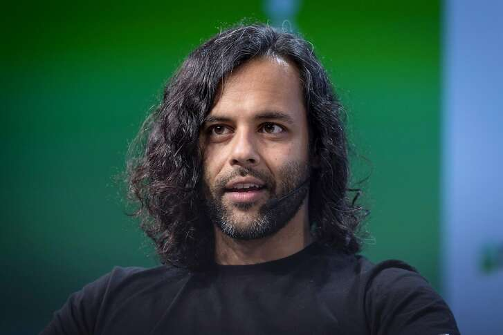 Baiju Bhatt, co-founder and co-chief executive officer of Robinhood Financial LLC, speaks during the TechCrunch Disrupt 2018 summit in San Francisco, California, U.S., on Thursday, Sept. 6, 2018. TechCrunch Disrupt, the world's leading authority in debuting revolutionary startups, gathers the brightest entrepreneurs, investors, hackers, and tech fans for on-stage interviews. Photographer: David Paul Morris/Bloomberg