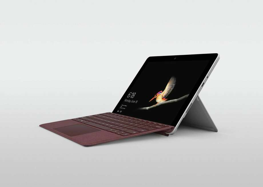 Microsoft's Surface Go is a thin, light Windows 10 PC that doubles as a tablet and a laptop. Photo: Microsoft
