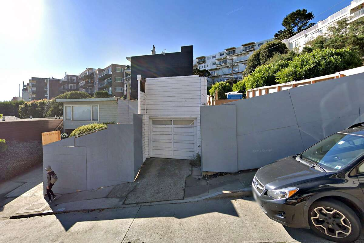 Google street view of the Largent House designed by Richard Neutra at 49 Hopkins Ave. in San Francisco from 2017. A Twin Peaks property owner has appealed a San Francisco Planning Commission ruling that he must build an exact replica of the 1935 home designed by famed modernist Richard Neutra that previously occupied the site.