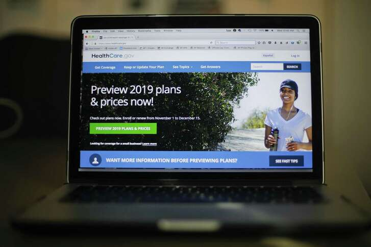 The HealthCare.gov website is photographed in Washington, Wednesday, Oct. 31, 2018. Health insurance sign-ups for the Affordable Care Act are down with just a few days left to enroll in most states, even though premiums are stable, consumers have more choice, and millions of uninsured people can still get financial help. The nation's uninsured rate could edge up again. (AP Photo/Pablo Martinez Monsivais)