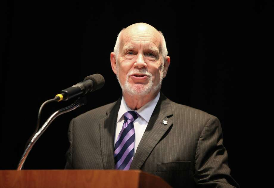 Stan Stanley was a guest speaker at the 2014 Teachers of the Year Luncheon at the Merrell Center in Katy on May 7, 2014. Photo: Alan Warren, Staff Photographer / Houston Community Newspapers / Houston Community Newspapers