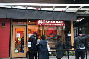 A line starts to form early outside Ramen Nagi in Palo Alto on Nov. 17, 2018.