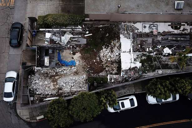The demolished home at 49 Hopkins St. on Friday, Dec. 14, 2018, in San Francisco, Calif. A developer who illegally demolished a 1935 house designed by modernist icon Richard Neutra near Twin Peaks has been ordered by the Planning Commission to build an exact replica of the original house rather than the much larger home he had proposed replacing it with.