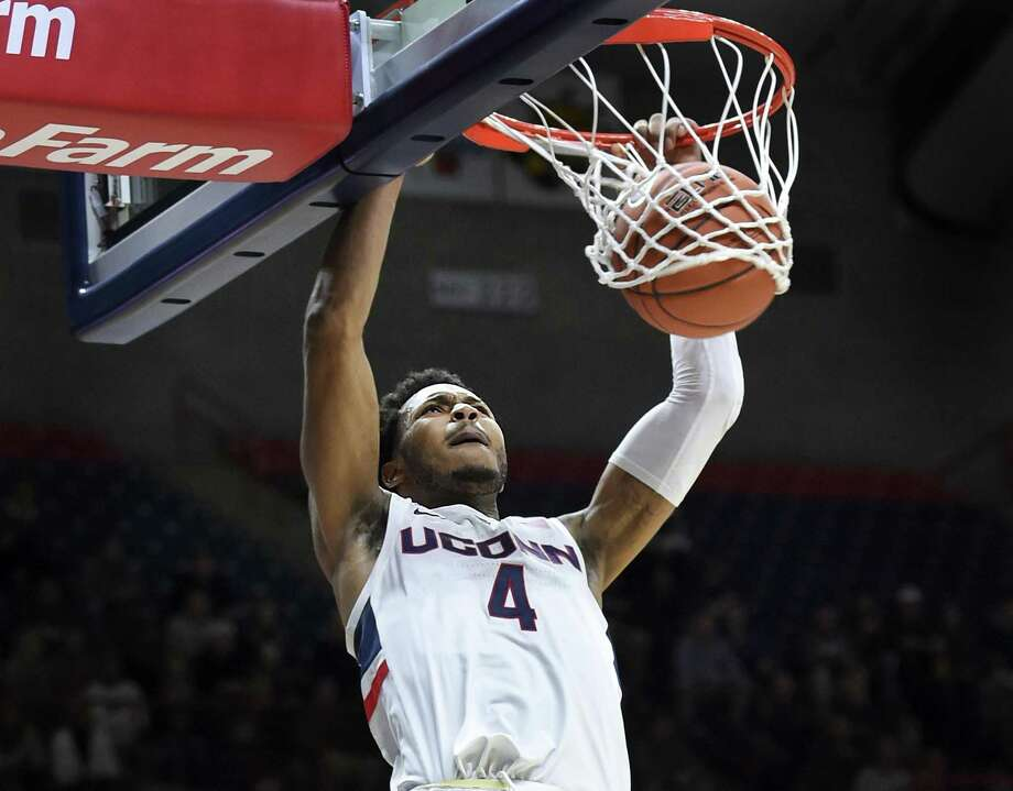 Jalen Adams and UConn return to action on Saturday when they host Manhattan. Photo: Stephen Dunn / Associated Press / Copyright 2018 The Associated Press. All rights reserved