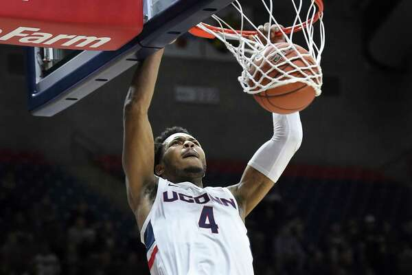Jalen Adams and UConn return to action on Saturday when they host Manhattan.