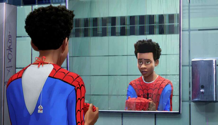 "Miles Morales (voiced by Shameik Moore) in ""Spider-Man: Into the Spider-Verse."" MUST CREDIT: Sony Pictures Animation Photo: Sony Pictures Animation / © 2018 CTMG, Inc"