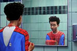 """Miles Morales (voiced by Shameik Moore) in """"Spider-Man: Into the Spider-Verse."""" MUST CREDIT: Sony Pictures Animation"""