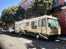 RV alleged to have been a rolling drug store selling methamphetamine and other illegal drugs parked on Treat Street in the Mission.