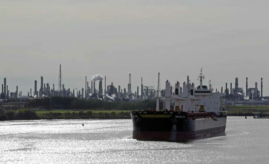 The Golden Leo bulk carrier ship navigates through the Houston Ship Channel Jan. 3, 2017, in Houston. ( James Nielsen / Houston Chronicle ) Photo: James Nielsen, Staff / Houston Chronicle / © 2017  Houston Chronicle
