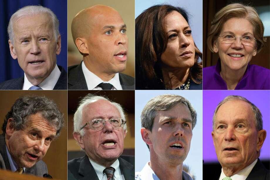 Image result for images of Joe Biden, Elizabeth Warren, Beto O'Rourke