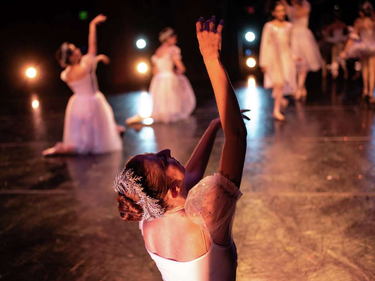 Cast members of the San Antonio Youth Ballet's production of The Nutcracker ballet perform onstage during a dress rehearsal along with the South Texas Symphonic Orchestra at the Carver Cultural Community Center on Thursday, December 13, 2018.