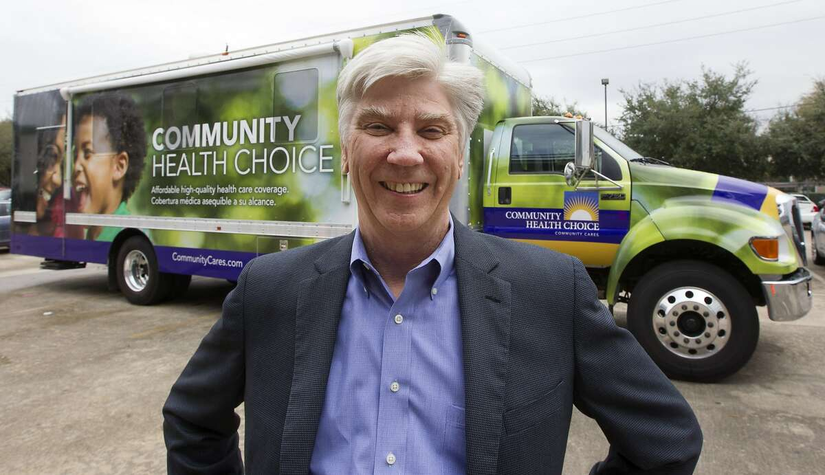 CEO of Community Health Choice Ken Janda poses for a portrait outside his mobile office on Tuesday, Dec. 23, 2014, in Houston. The mission of the mobile office is to take health insurance enrollment to the people. ( J. Patric Schneider / For the Chronicle )