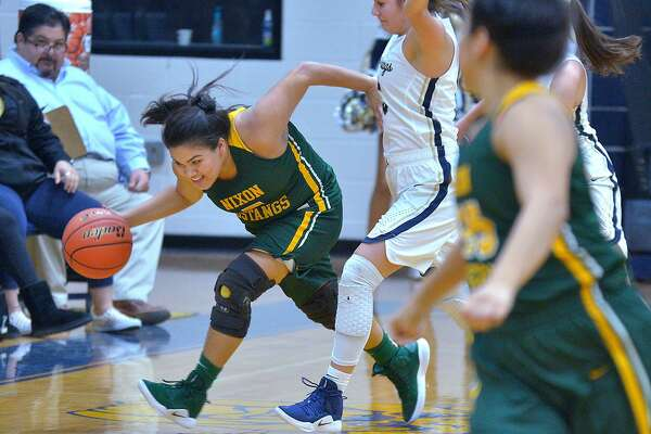 Alyssa Mata and Nixon rallied past Alexander 51-48 Friday thanks to a pair of putbacks during the game's final 33 seconds.