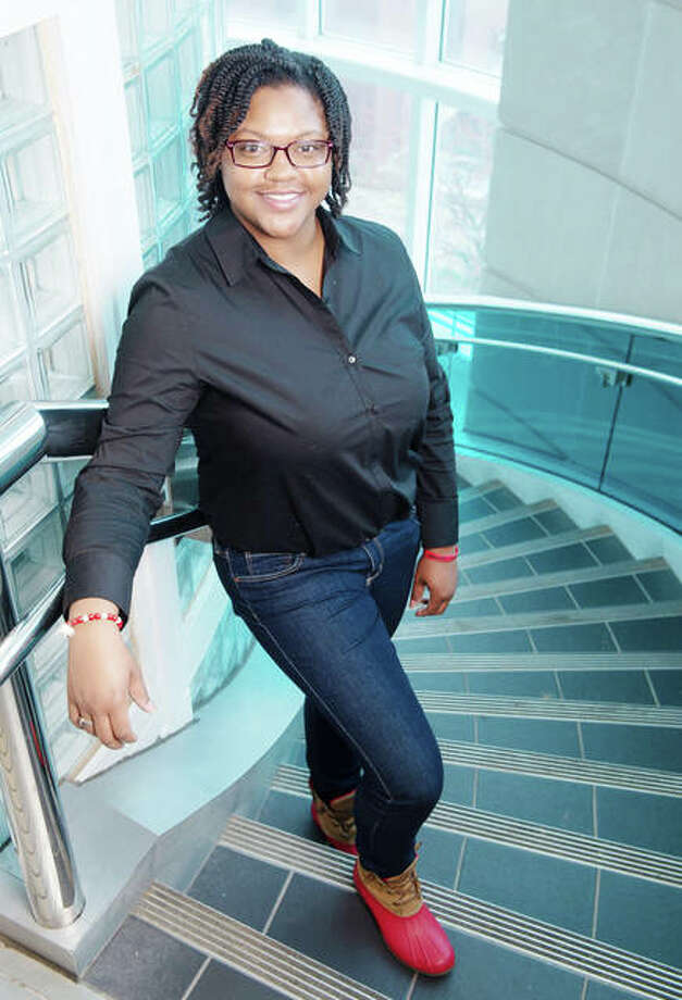 East St. Louis native Yelana Moton will earn a bachelor's in construction management, with a minor in business administration, from the SIUE School of Engineering on Saturday, Dec. 15. Photo: For The Telegraph