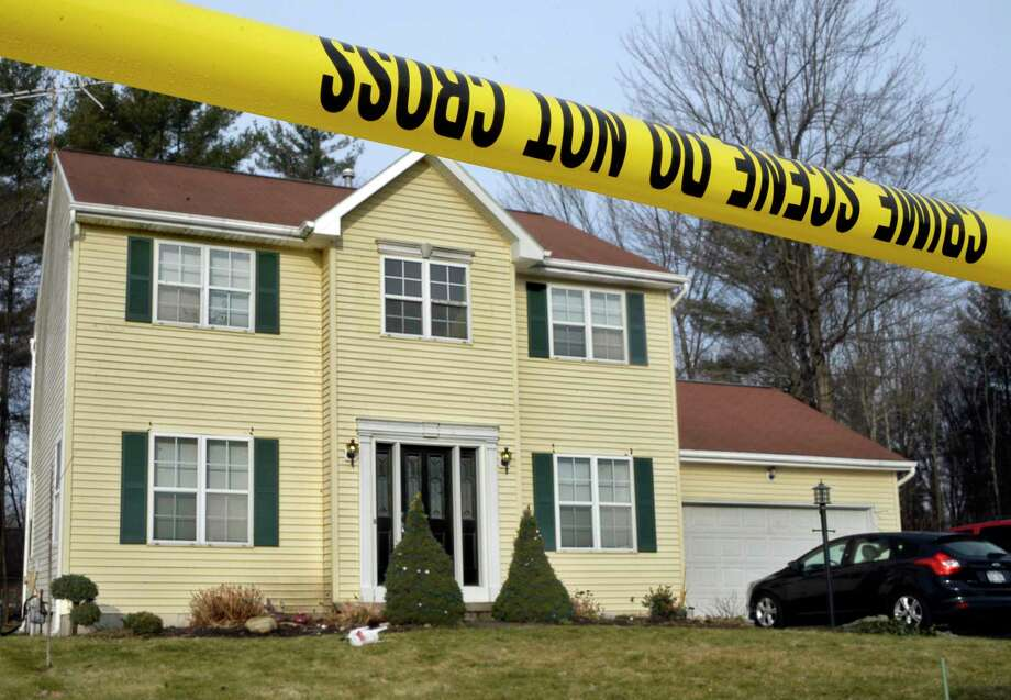 Crime scene tape surrounds 723 Adams Circle Saturday Dec. 15, 2018 in Ballston Spa, NY. Three bodies were discovered inside the single-family home on Friday.  (John Carl D'Annibale/Times Union) Photo: John Carl D'Annibale, Albany Times Union