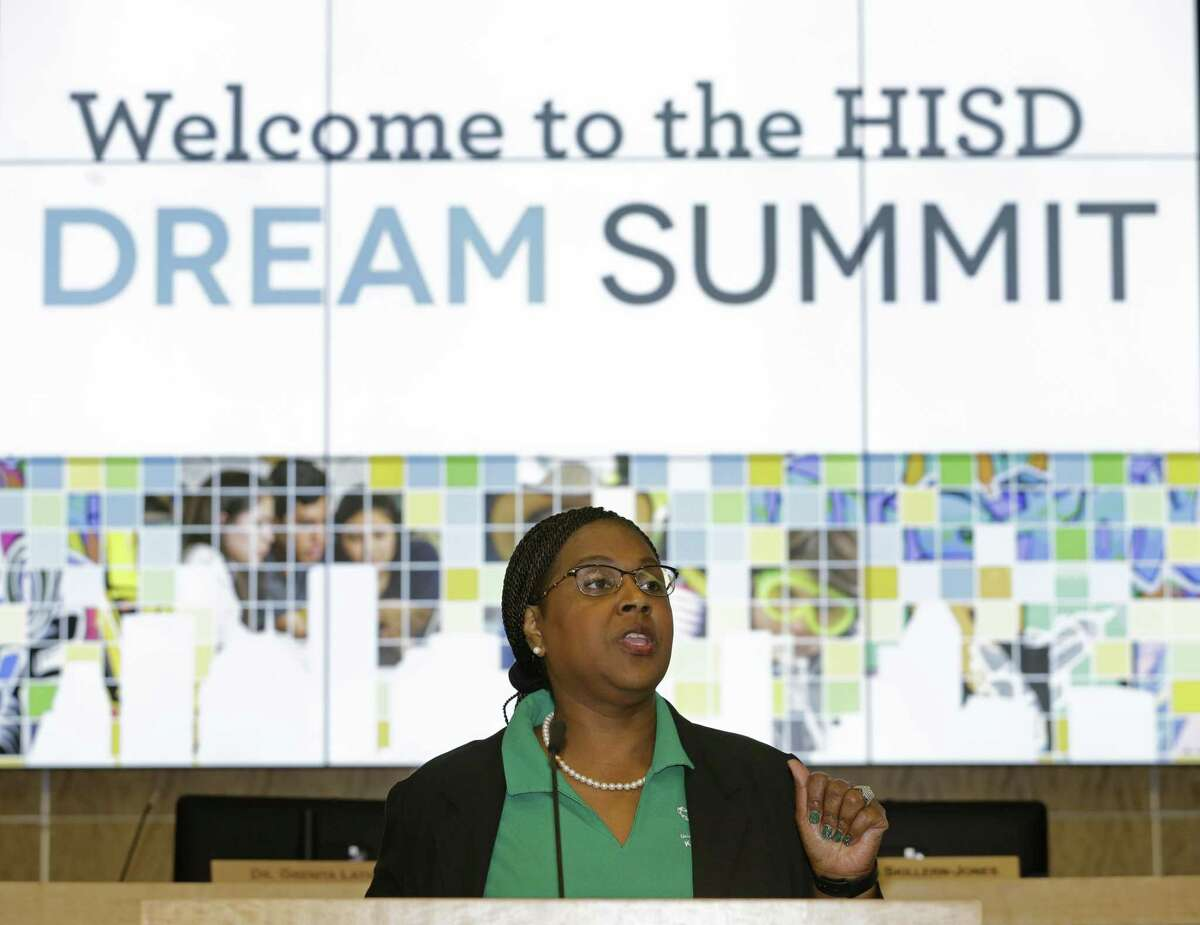Grenita Lathan, HISD interim superintendent, speaks during the fourth annual Dream Summit held at HISD Hattie Mae White Educational Support Center, 4400 W. 18th St., Saturday, Dec. 15, 2018, in Houston.