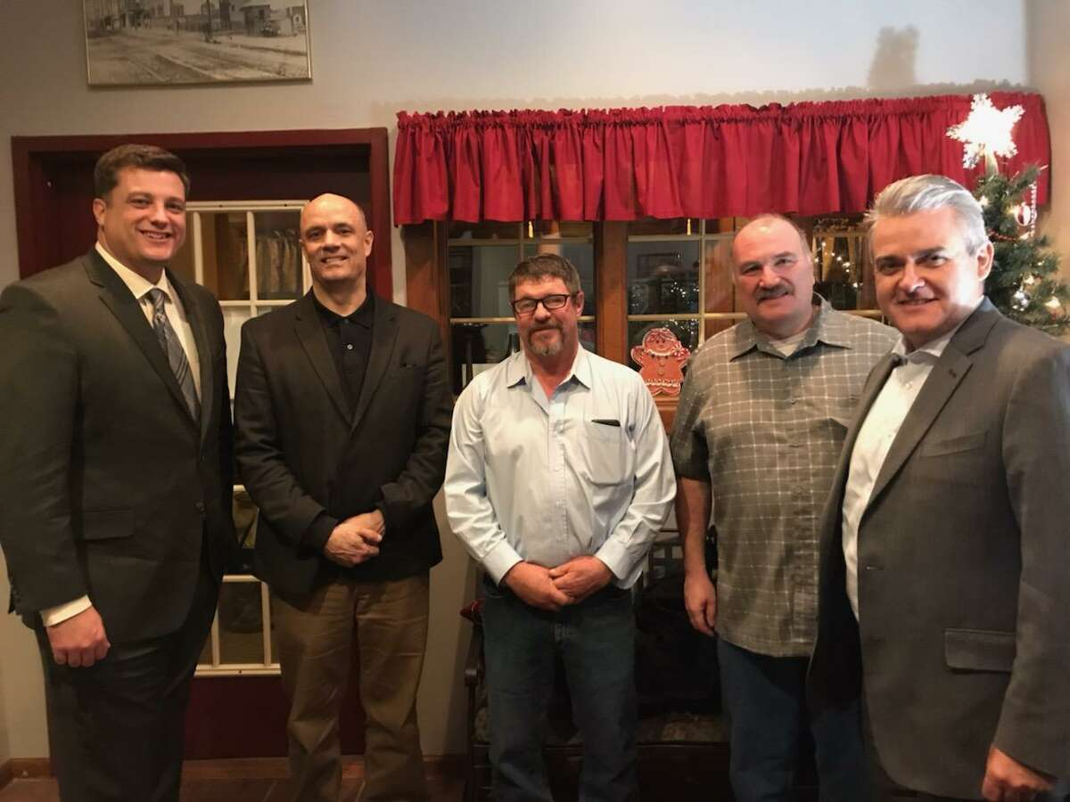 Richard Crist, director of operations for Rensselaer County, is pictured second from left. Crist was put on unpaid leave by Rensselaer County March 30, 2019 as the Times Union published a story about an FBI probe looking into Crist's campaign activities.