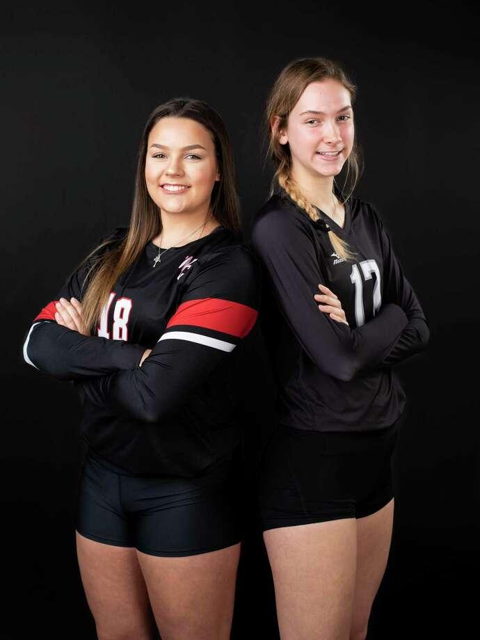 Caroline Meuth, left, and Kara McGhee, right, for San Antonio Express-News on Sunday, December 9, 2018. Photo: Matthew Busch /Contributor / San Antonio Express-News