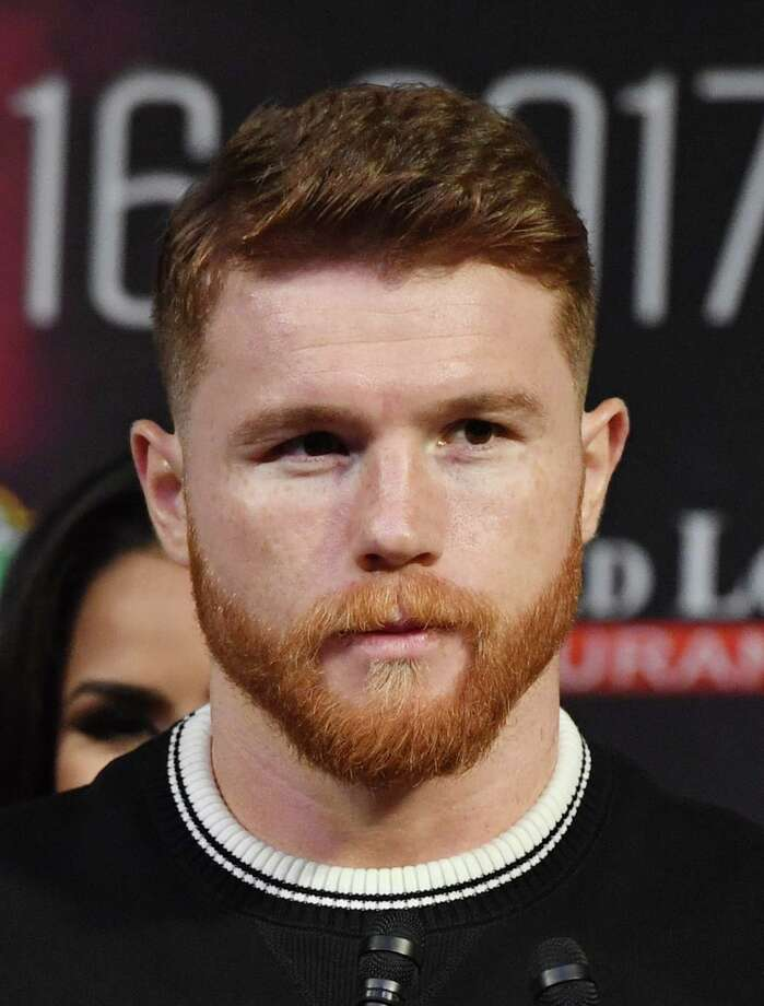 LAS VEGAS, NV - SEPTEMBER 13:  Canelo Alvarez speaks during a news conference at MGM Grand Hotel & Casino on September 12, 2017 in Las Vegas, Nevada. Alvarez will challenge WBC, WBA and IBF middleweight champion Gennady Golovkin for his titles at T-Mobile Arena on September 16 in Las Vegas.  (Photo by Ethan Miller/Getty Images) ORG XMIT: 775034474 Photo: Ethan Miller / 2017 Getty Images