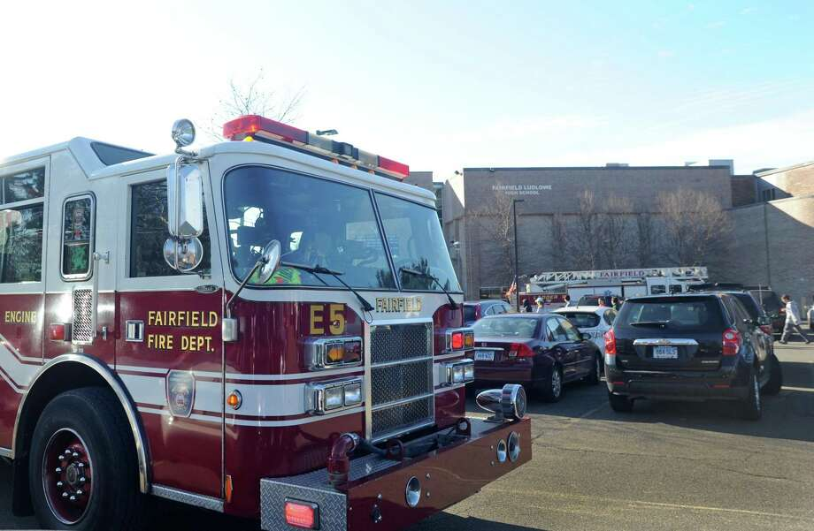 File photo of a Fairfield Fire Department truck from when Fairfield Ludlowe High School was evacuated at about 10:15 a.m. on Thursday, Jan. 15, 2015 in Fairfield, Conn. Photo: Cathy Zuraw / Cathy Zuraw / Connecticut Post