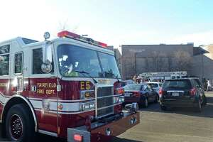 File photo of a Fairfield Fire Department truck from when Fairfield Ludlowe High School was evacuated at about 10:15 a.m. on Thursday, Jan. 15, 2015 in Fairfield, Conn.