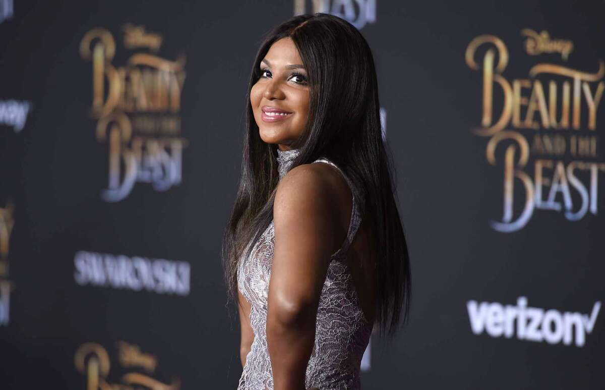 FILE - In this March 2, 2017 file photo, singer Toni Braxton arrives at the world premiere of