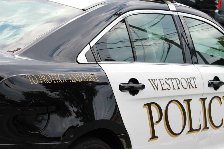 A Westport police car is shown in this file photo. Photo: Chris Marquette / Hearst Connecticut Media / Westport News