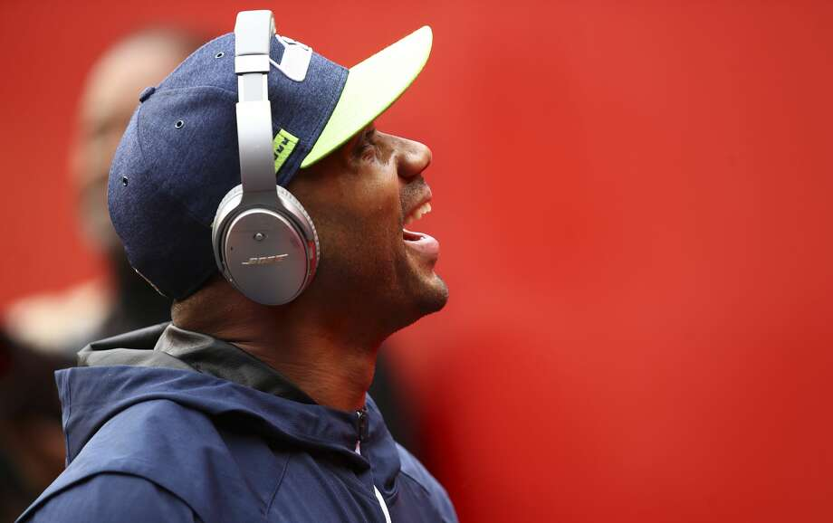 Seattle Seahawks quarterback Russell Wilson walks off the field after warms up before an NFL football game against the San Francisco 49ers in Santa Clara, Calif., Sunday, Dec. 16, 2018. (AP Photo/Ben Margot) Photo: Ben Margot/AP