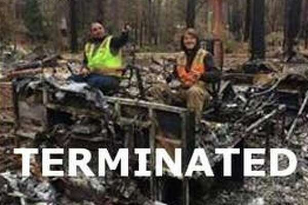 A Bay Area construction company has fired three of its cleanup workers after photos of them posing insensitively on the Camp Fire debris surfaced online.
