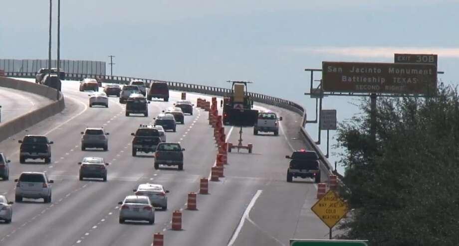 Lanes shut for Ship Channel Bridge emergency work - Houston