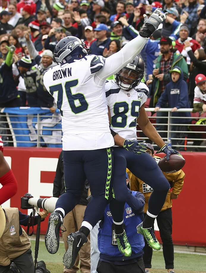 Seahawks starting left tackle Duane Brown has been at the forefront of the culture shift in the team's offensive line. Several offensive linemen spoke of his impact to The SeattlePI. Click through the following slideshow for their comments. Photo: Ben Margot/AP