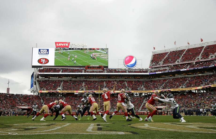 """Seahawks coach Pete Carroll on Monday referred to the field at Levi's Stadium, the home of the 49ers, as """"really lousy."""" Photo: Jeff Chiu/AP"""