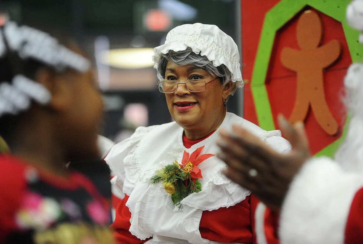 Mrs. Claus, aka New Haven Mayor Toni Harp at the 5th Annual Winter Wonderland holiday toy giveaway at the Floyd Little Fieldhouse in New Haven, Conn. on Sunday, December 16, 2018.