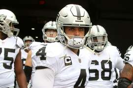 CINCINNATI, OH - DECEMBER 16:  Derek Carr #4 of the Oakland Raiders prepares to lead his teammates out on to the field prior to the start of the game against the Cincinnati Bengals at Paul Brown Stadium on December 16, 2018 in Cincinnati, Ohio. (Photo by John Grieshop/Getty Images)