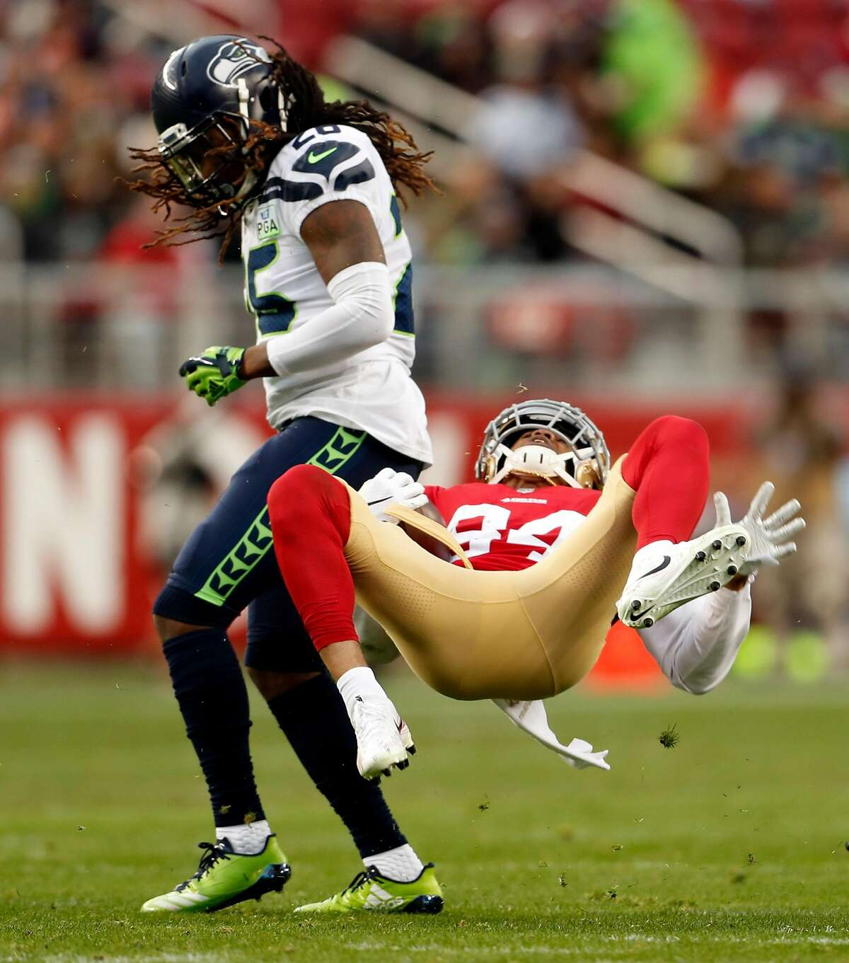 CORNERBACKS GRADE: B- REASONING: Did we get a taste of the Seahawks' cornerback tandem of the future in Shaquill Griffin and Tre Flowers? The youth (and mistakes) showed up at times, but they both made some big-time plays. Flowers was arguably CB1 by the end of the season and may have been Seattle's top rookie. The safety-turned-corner was third on the team with 67 tackles and his three forced fumbles ranked first out of all rookie defensive backs. Griffin had his struggles late in the season; a couple blown coverages immediately come to mind. But he's filled the big question mark at left CB (Richard Sherman's old position) and has plenty of room to grow heading into his third NFL season. At his end-of-season news conference last week, head coach Pete Carroll said Griffin was
