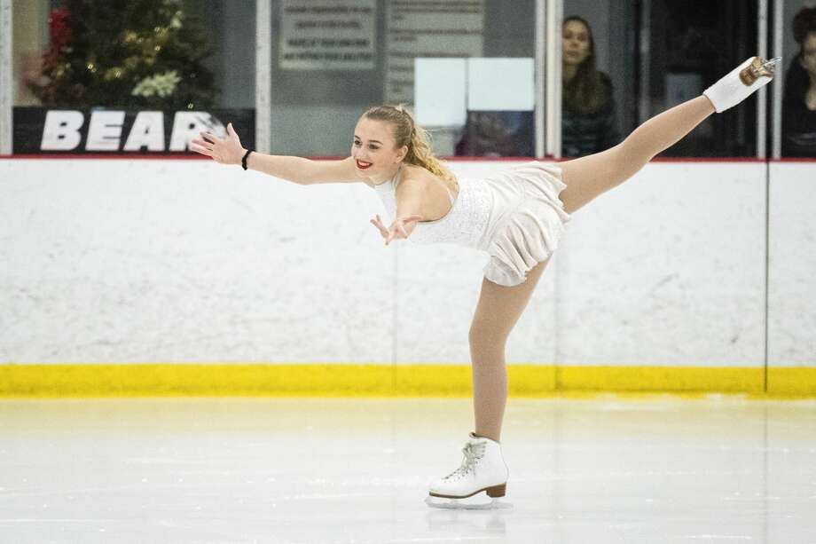 "Isabella Serafin skates to ""Let it Snow"" during the Holiday Spectacular on Ice presented by the Midland Figure Skating Club on Sunday, Dec. 16, 2018 at the Midland Civic Arena. (Danielle McGrew Tenbusch/for the Daily News) Photo: (Danielle McGrew Tenbusch/for The Daily News)"
