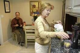 Kathy Kokas and her husband, Tom King,