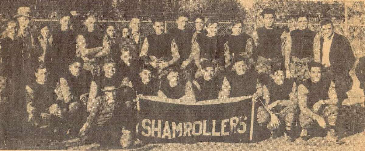 Cas Weiner of Danbury shared this clip that ran in the paper in 1975. The photograph is of the Danbury Shamrollers, a semi-professional football team, whose toughest competition came from the Norwalk Pastimes team. The photo was taken in 1932 or 1933 at the Norwalk Pastimes field.