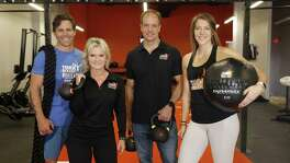 Tough Mudder's creative director Eric Botsford, General Manager Leslie Moritz, franchisee Jason Stanley and head coach Shayne Haley have big plans for the bootcamp's first gym in Texas.