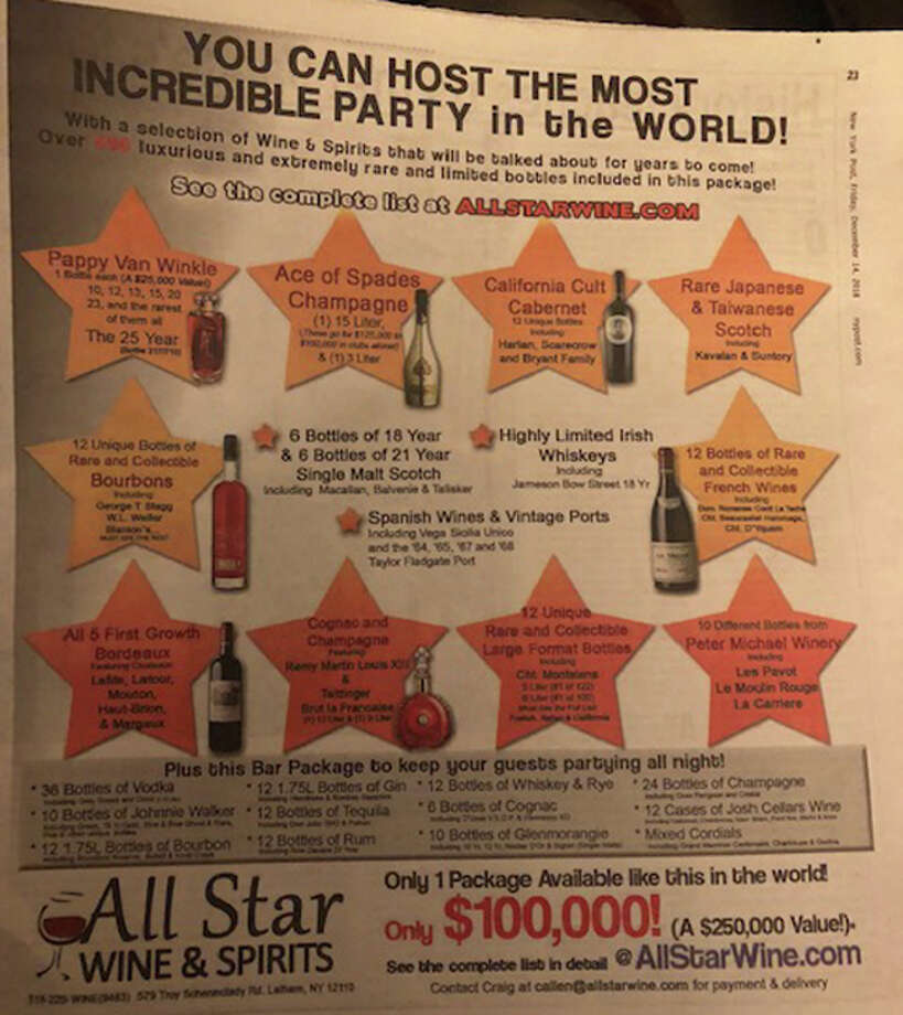 All Star Wine & Spirits touts $100K New Year's Eve special
