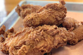 Fried chicken from Sam's Fried Chicken & Donuts, 601 Heights. Sam's, the former Lee''s Fried Chicken & Donuts, is under new management from Sambrooks Management Company with new chicken and donut recipes.