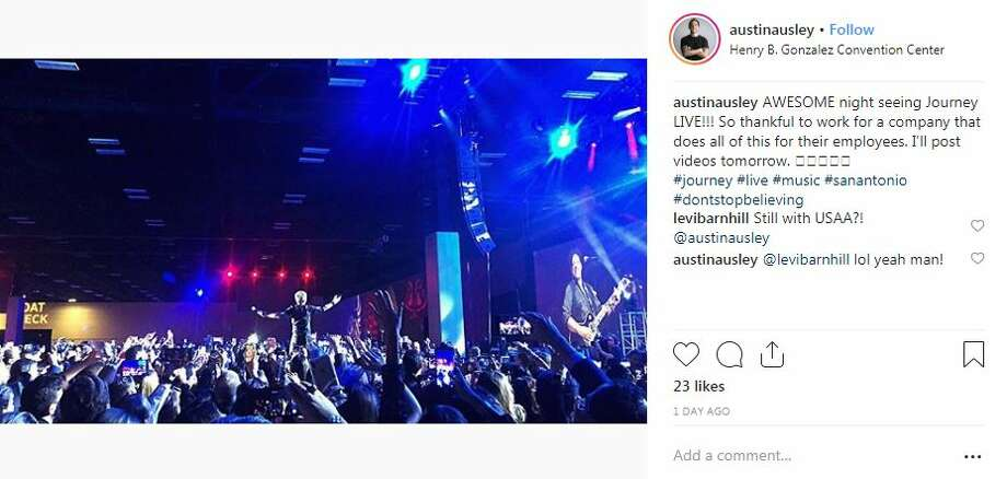 Usaa Christmas Party 2020 Journey Instagram offers look into USAA holiday party where Journey