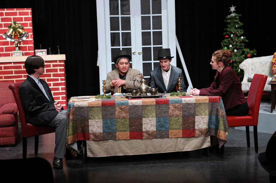 Lake Darby cast members from left, Tanis Grimes, Bryant Huerta, Nolan Myers, and Avery Bendele. Photo: Loretta Figeac